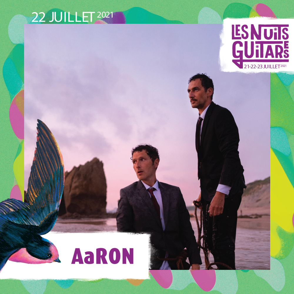 AaRON en concert aux Nuits Guitares de Beaulieu-sur-mer le 22 juillet 2021